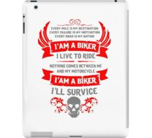 I Am A Biker T Shirt, Stickers and Other Gifts iPad Case/Skin