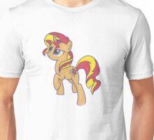 Notecard Ponies: #6: Sunset Shimmer Unisex T-Shirt