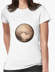 Pluto Heart Womens Fitted T-Shirt