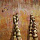 Girl Talk * Striped Socks by AnaCBStudio
