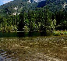 Lake Hintersee. Mountain Hochkalter. by Daidalos