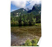 Lake Hintersee. Mountain Hochkalter. Poster
