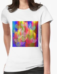 Blowing bubbles Womens Fitted T-Shirt
