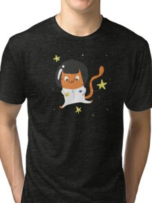 Space Kitty - #4 Tri-blend T-Shirt