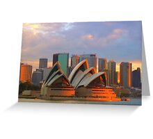 Sydney Opera House at sunset Greeting Card