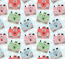 Vintage Camera Pattern - Blue by pigandpumpkin
