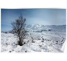 Ben Nevis in Winter. Poster