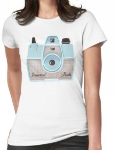 Vintage Camera - Blue Womens Fitted T-Shirt
