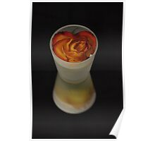 Rose in frosted glass Poster