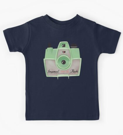 Vintage Camera - Mint Green Kids Tee