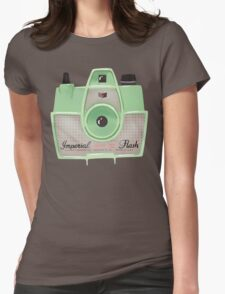Vintage Camera - Mint Green Womens Fitted T-Shirt