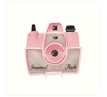 Vintage Camera - Pink Art Print