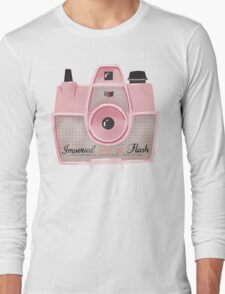 Vintage Camera - Pink Long Sleeve T-Shirt