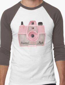 Vintage Camera - Pink Men's Baseball ¾ T-Shirt