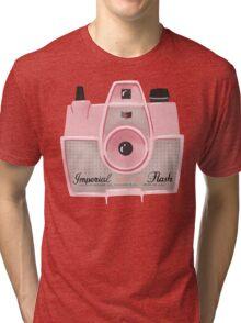Vintage Camera - Pink Tri-blend T-Shirt