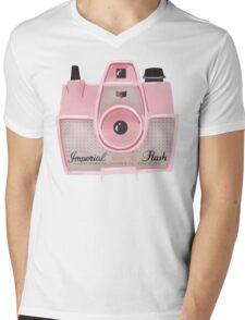 Vintage Camera - Pink Mens V-Neck T-Shirt