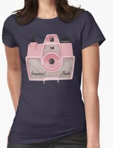 Vintage Camera - Pink Womens Fitted T-Shirt