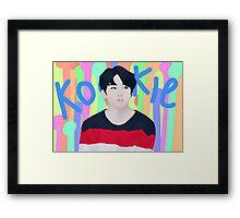 Jungkook - kookie (blue) Framed Print