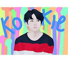 Jungkook - kookie (blue) Photographic Print