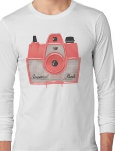 Vintage Camera - Red Long Sleeve T-Shirt