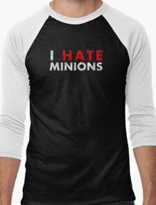 I Hate Minions - White Dirty Men's Baseball ¾ T-Shirt