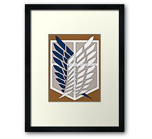 Attack on Titan Survey Corps Framed Print