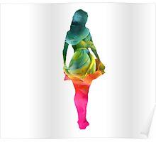 rainbow smoke silhouette Poster