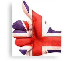 UK Flag hand Canvas Print