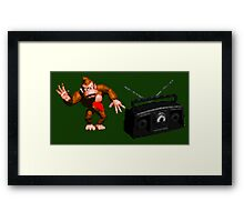 Donkey Kong Country - Rockin' Out Framed Print