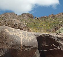 Hohokam Petroglyphs/Superstition Mountain  by whatshapplin