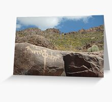 Hohokam Petroglyphs/Superstition Mountain  Greeting Card