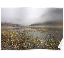 Autumn mist in Glencoe. Poster