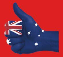 Australia Flag Hand Kids Clothes