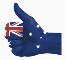 Australia Flag Hand One Piece - Short Sleeve