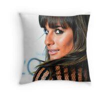 Lea Michele pillow Throw Pillow