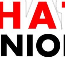 I Hate Minions - Black Clean Sticker
