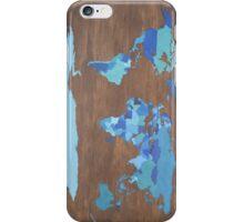 Blue Map iPhone Case/Skin