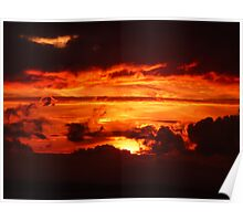 sunset over Enniscrone Poster