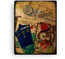 Doctor Who Travel Log  Canvas Print