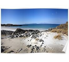 Isle of Eigg from Arisaig. Poster