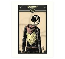 Strength - Sinking Wasteland Tarot Art Print
