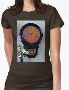 The Olde Dogwood Clock Womens Fitted T-Shirt