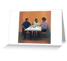 Table For Three Greeting Card