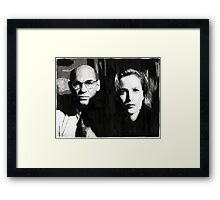 Scully and Skinner Framed Print