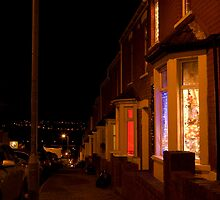 Christmastime at Stacey's house - Trinity Street, Barry by Christopher Ware