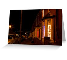 Christmastime at Stacey's house - Trinity Street, Barry Greeting Card