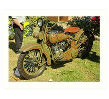 1926 JD Harley Davidson Art Print