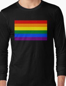 Rainbow flag Gay Homosexual Lesbian Long Sleeve T-Shirt