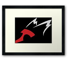 pokemon latios latias anime manga shirt Framed Print
