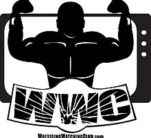 Wrestling Watching Club Glass Shatter BW Logo by SanFranciscoWWC